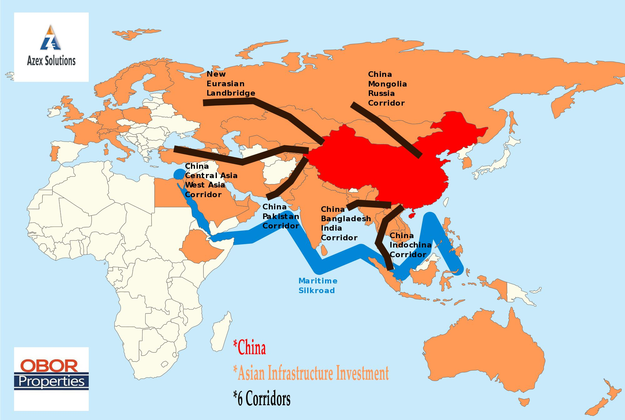 The Belt and Road Initiative or the Silk Road Economic Belt and ...
