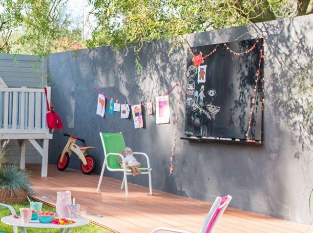 youhou un coin jardin r serv aux enfants murs gris mur et gris. Black Bedroom Furniture Sets. Home Design Ideas
