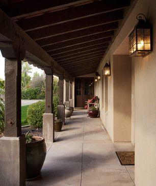 Mediterranean porch outdoor lighting design pictures for Mediterranean front porch designs