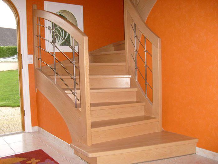 le berder escaliers bois et tendance potier escalier bois et tendance pinterest. Black Bedroom Furniture Sets. Home Design Ideas