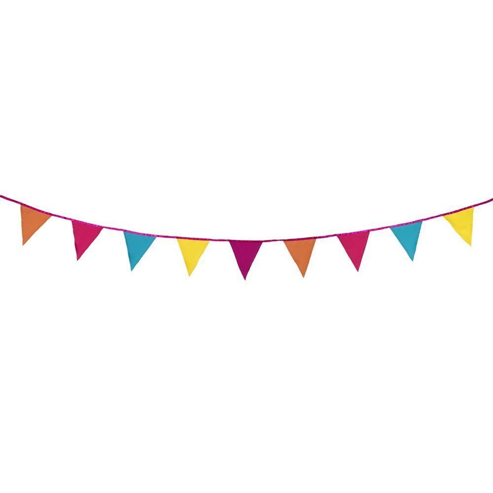 3 Metre Multi Colour Tropical Summer Fabric Pennant Flag Material Garden Bunting