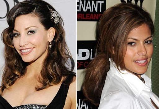 Gina Gershon Eva Mendes Celebrity Lookalikes Right Gina Gershon Mendes Celebrities