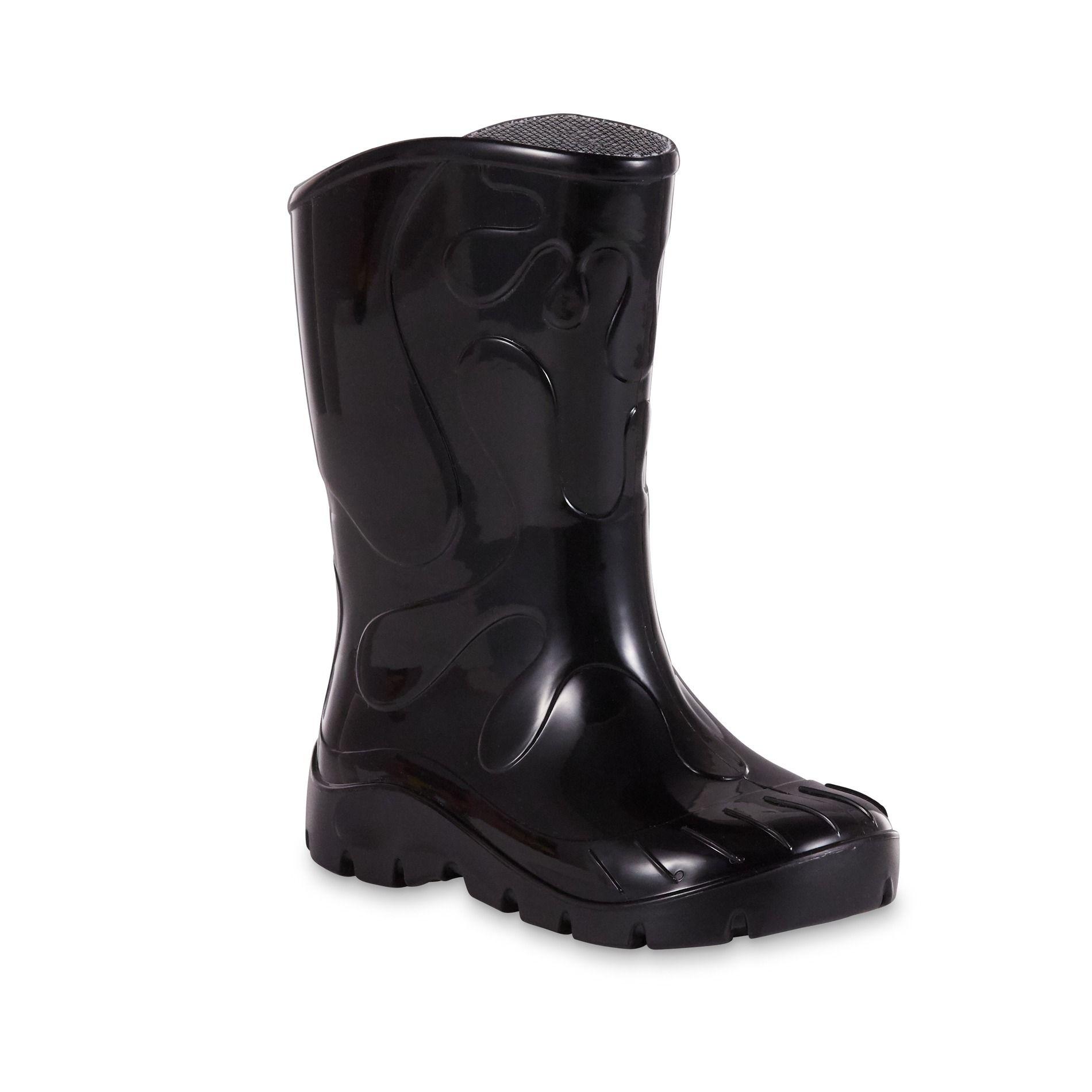 Skeeper Boys Black Rain Boot Size 12 Toddler Youth Girls Rain Boots Black Rain Boots Boys Rain Boots