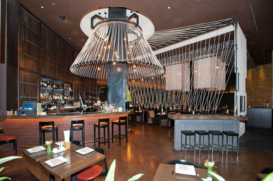 Modern Restaurant Interior Design With Thai Dining Experience Of Lemongr Las Vegas Bar Furnitures