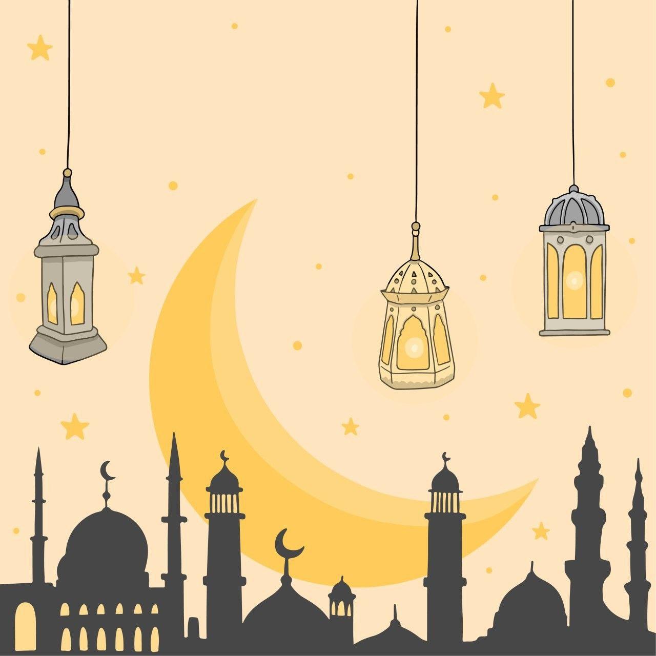 Pin Oleh Galerycy Di بطاقات لرمضان للكتابة عليها Seni Islamis Latar Belakang Seni