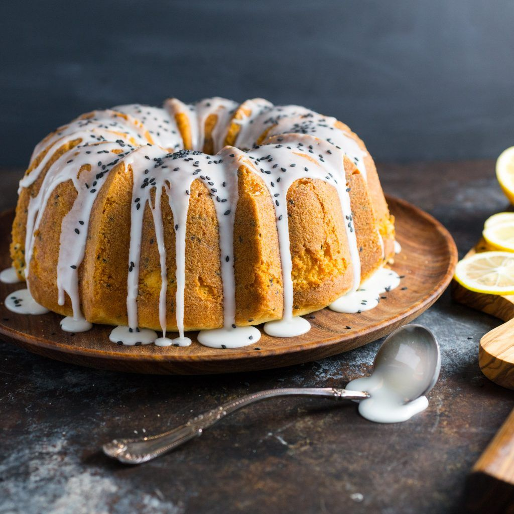 Lemon and black sesame buttermilk pound cake recipe