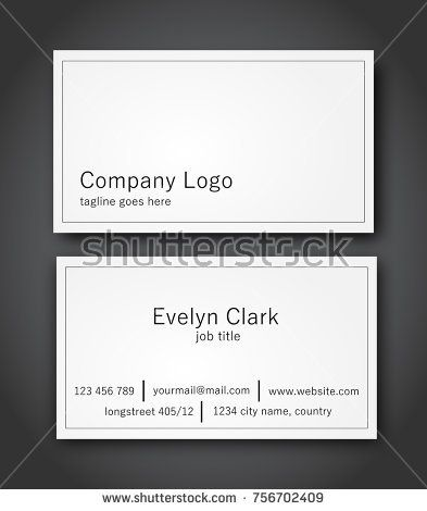 Business card template design white vector modern simple business card template design white vector modern simple reheart Image collections