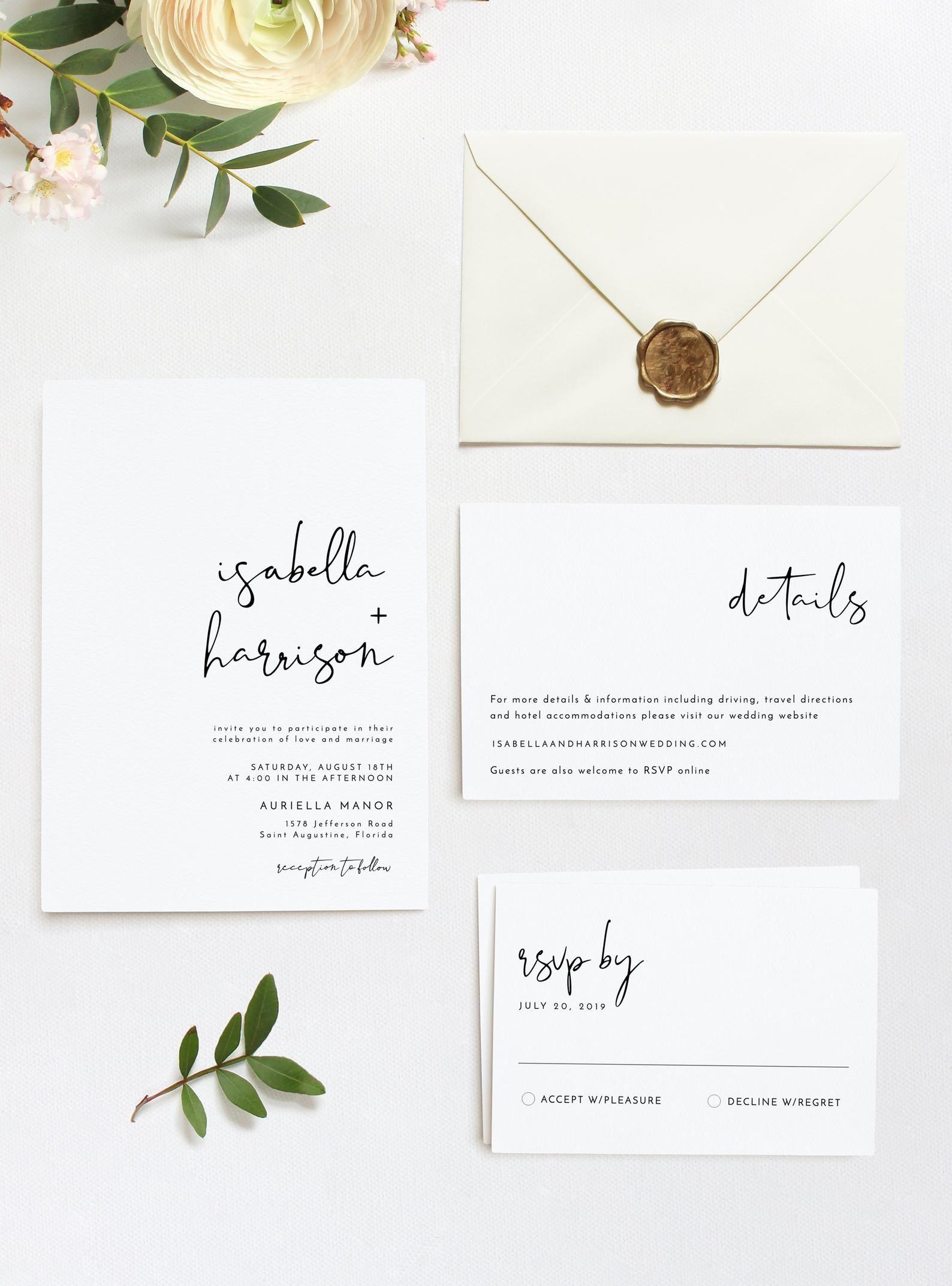 Pin by Carly Webb on Wedding Pretty Minimalist wedding