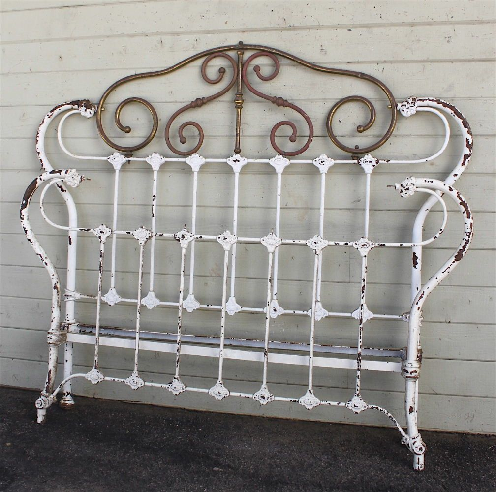 Antique iron bed queen - Although The Largest Size Antique Iron Bed Being Manufactured Back In The Was A Double Full Size This Bed Measures Wider Than Todays Queen Width Of Quite
