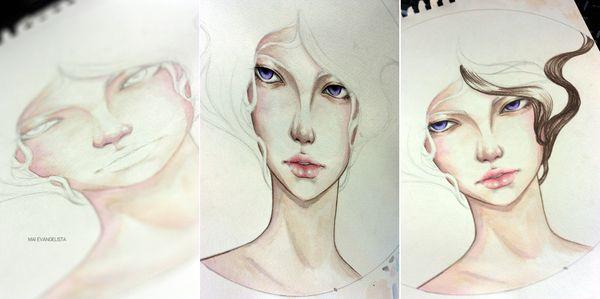 Mixed Media: Wildflower by Mai Evangelista, via Behance