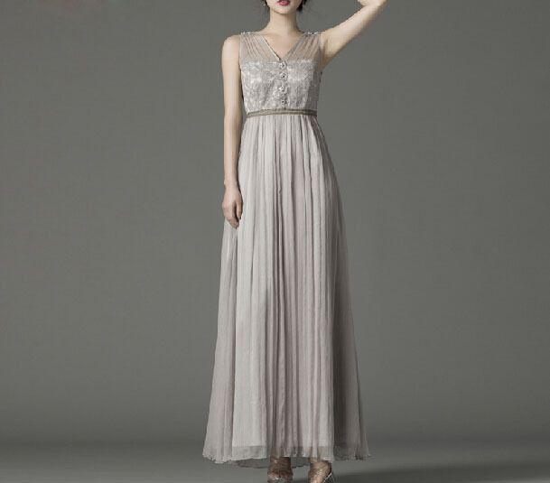 Grau Lace Silk Perle Hochzeit Abschlussball-Kleid   Produkte, Spitze ...