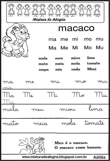 Cartilha De Alfabetizacao Pdf Familias Silabicas Com Imagens