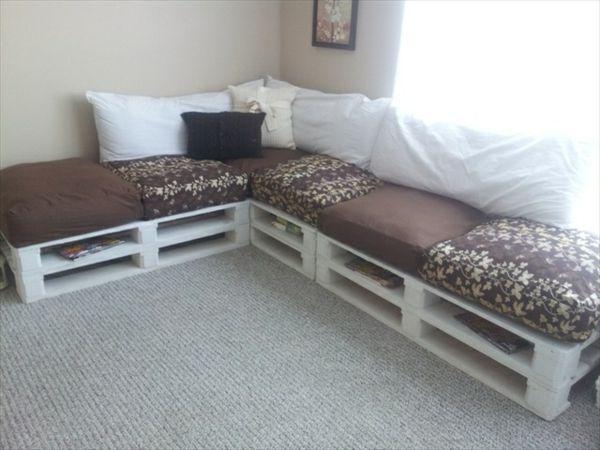 diy sofas made of europallets | europaletten sofa, möbel