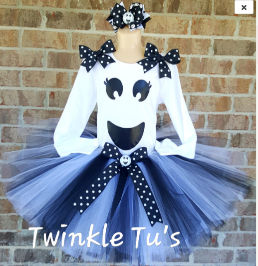 Halloween Ghost Tutu Outfit