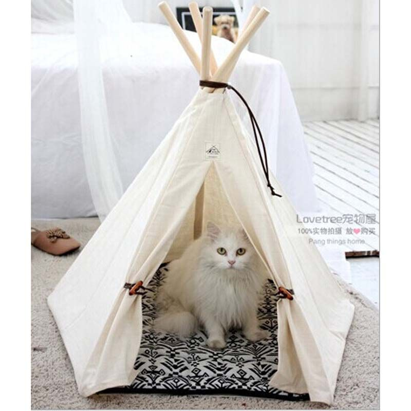 Pet Bed Teepee | Chic u0026 Trendy Small Dog Tent | Cat Nap Beds | Stripe  sc 1 st  Pinterest & Pet Bed Teepee | Chic u0026 Trendy Small Dog Tent | Cat Nap Beds ...