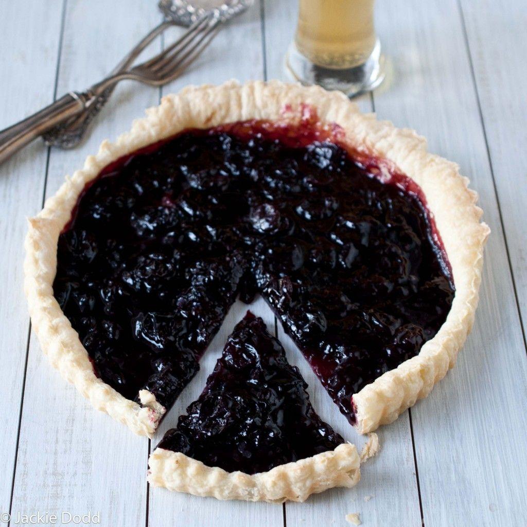 IPA infused cherry tart