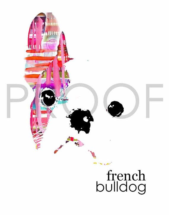 So cute! Want this for my wall collage -Henri the Frenchie by BasicallyBubbly on Etsy, $10.00