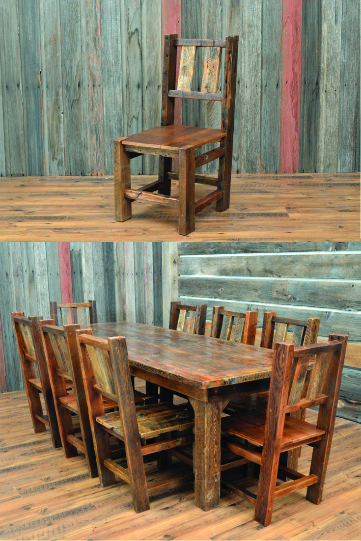 outdoor farmhouse dining table and bench