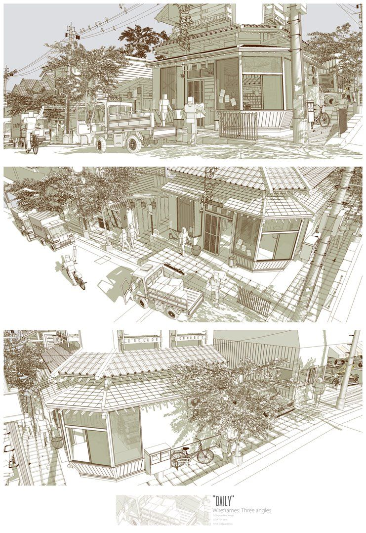 Daily wireframe by pixel pencil cool sketches wireframe construction deviantart cool