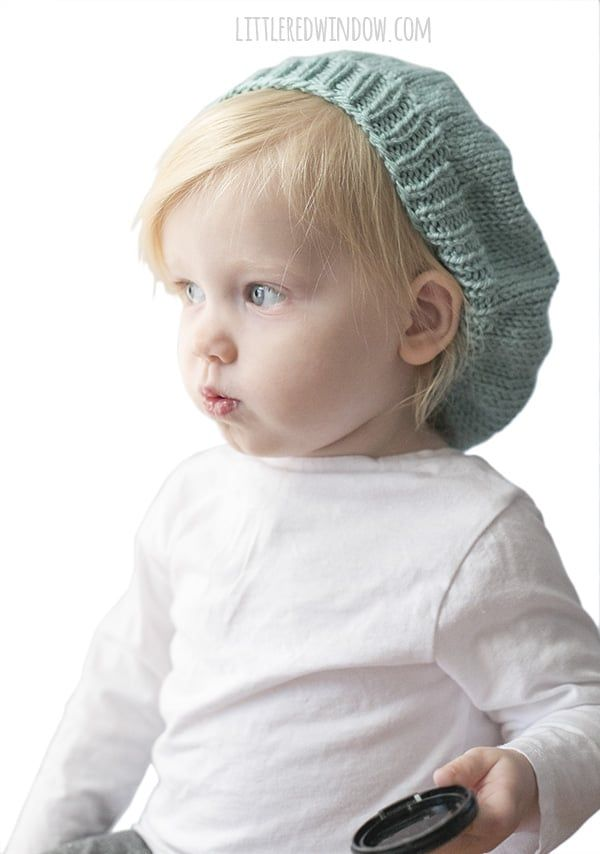 Slouchy Baby Hat Knitting Pattern | Stricken