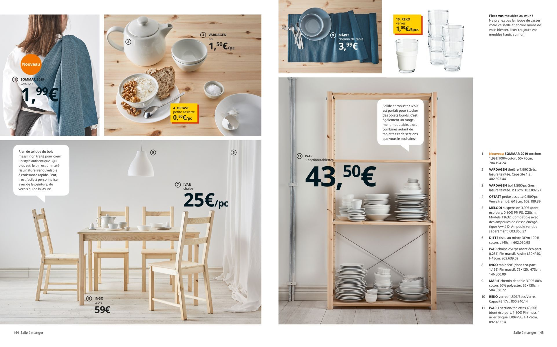 Salle à Manger Catalogue Ikea 2019 Cuisine En 2019