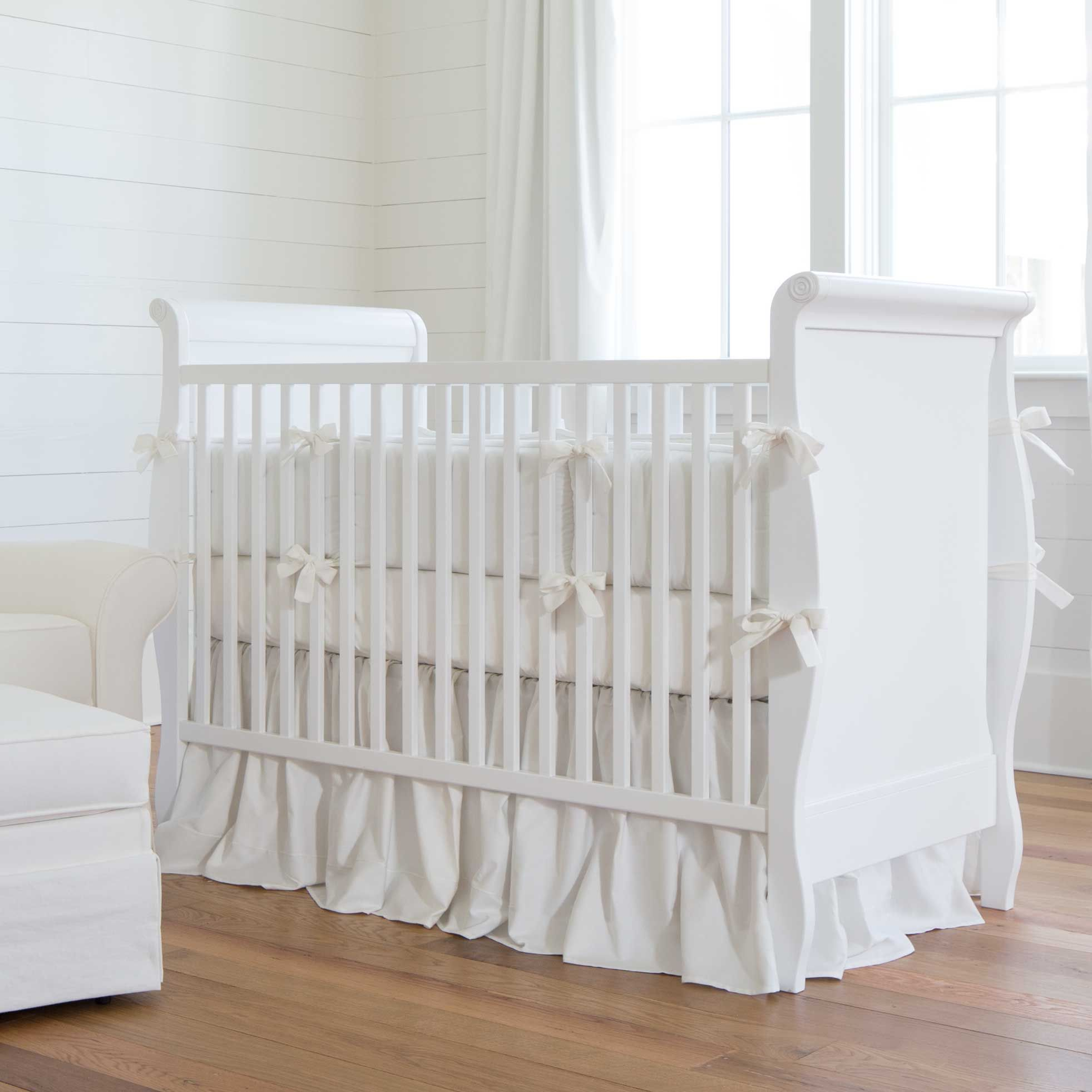 Solid White Baby Crib Bedding Collection Pink Crib Bedding Crib Bedding Boy White Crib Bedding