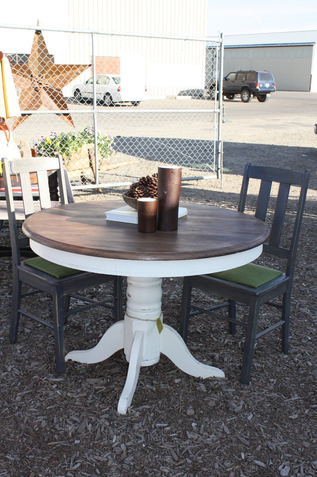 Painted white distressed kitchen tables email this blogthis share to twitter share to facebook
