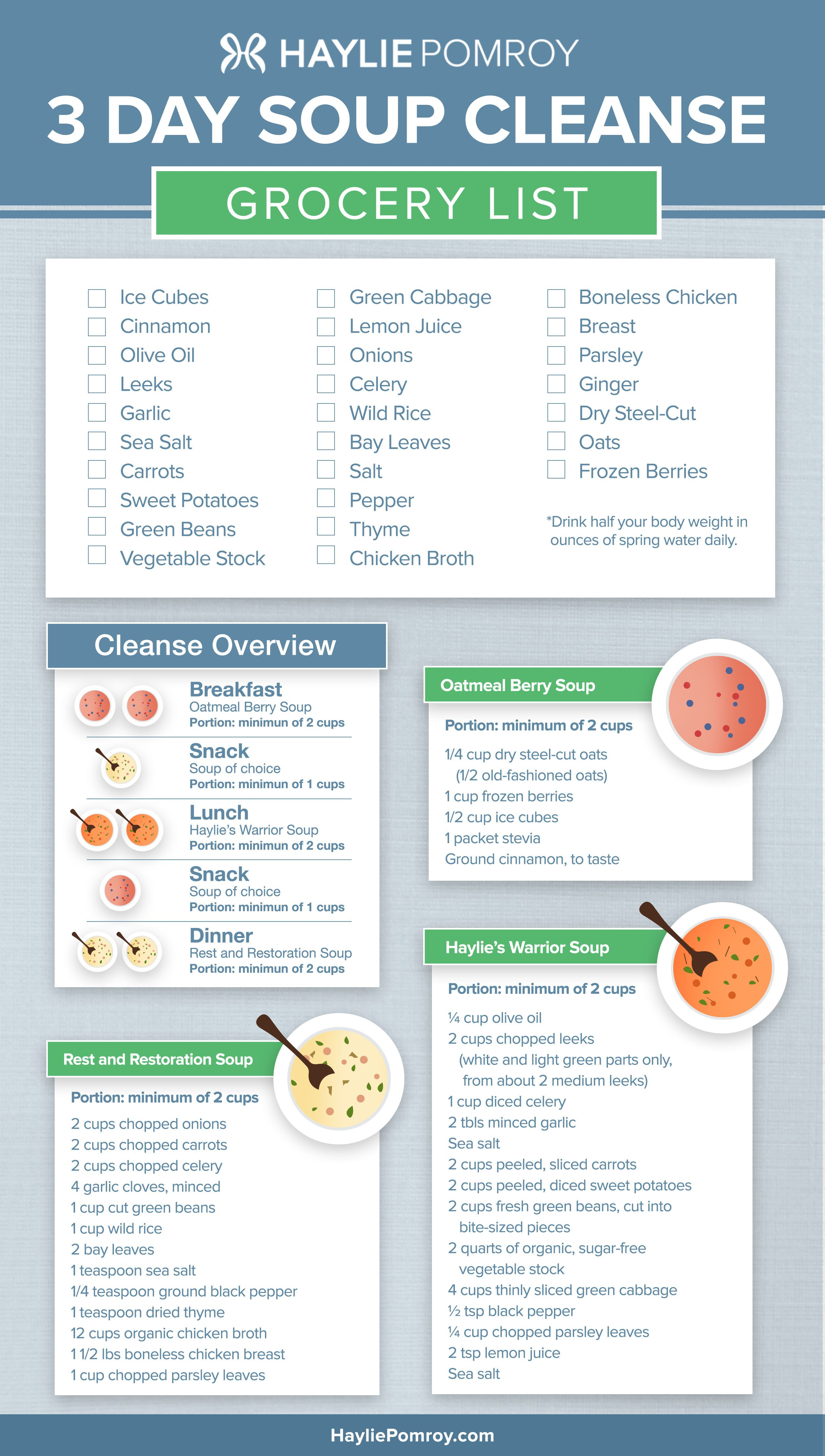 Haylie's 3-day soup cleanse | detox | pinterest | dieta del.