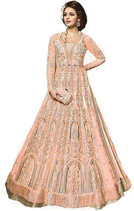 5d5769b9f Amazon.com  Ready Made Designer Indian Wear Anarkali Suit Party Wear Zoya 2  (Light Orange
