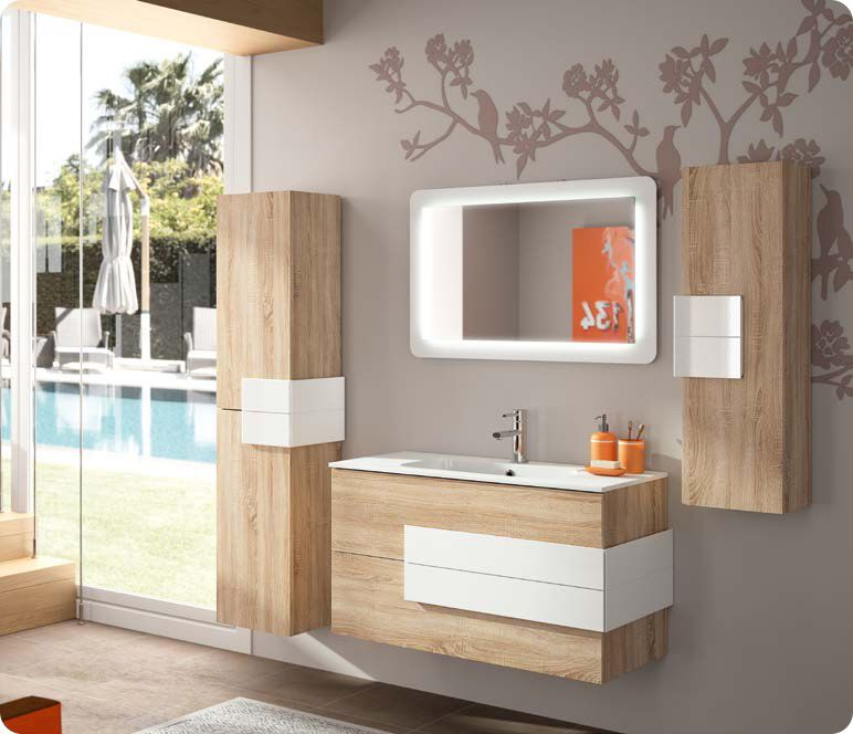 Pin by Techno Conseil Bain Douche on Meuble salle de bain Pinterest - meuble salle de bain marron