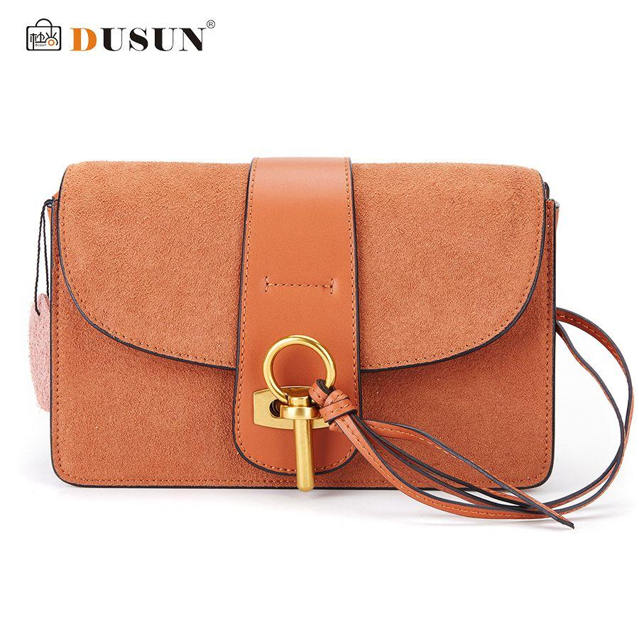 Dusun Women Bag Metal Lock Messenger Vintage Small Crossbody Luxury Brands Handbags Cover