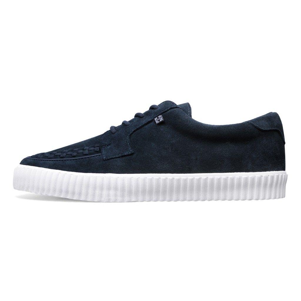 A9256 T.U.K. Shoes EZC Navy Suede Creeper Sneaker