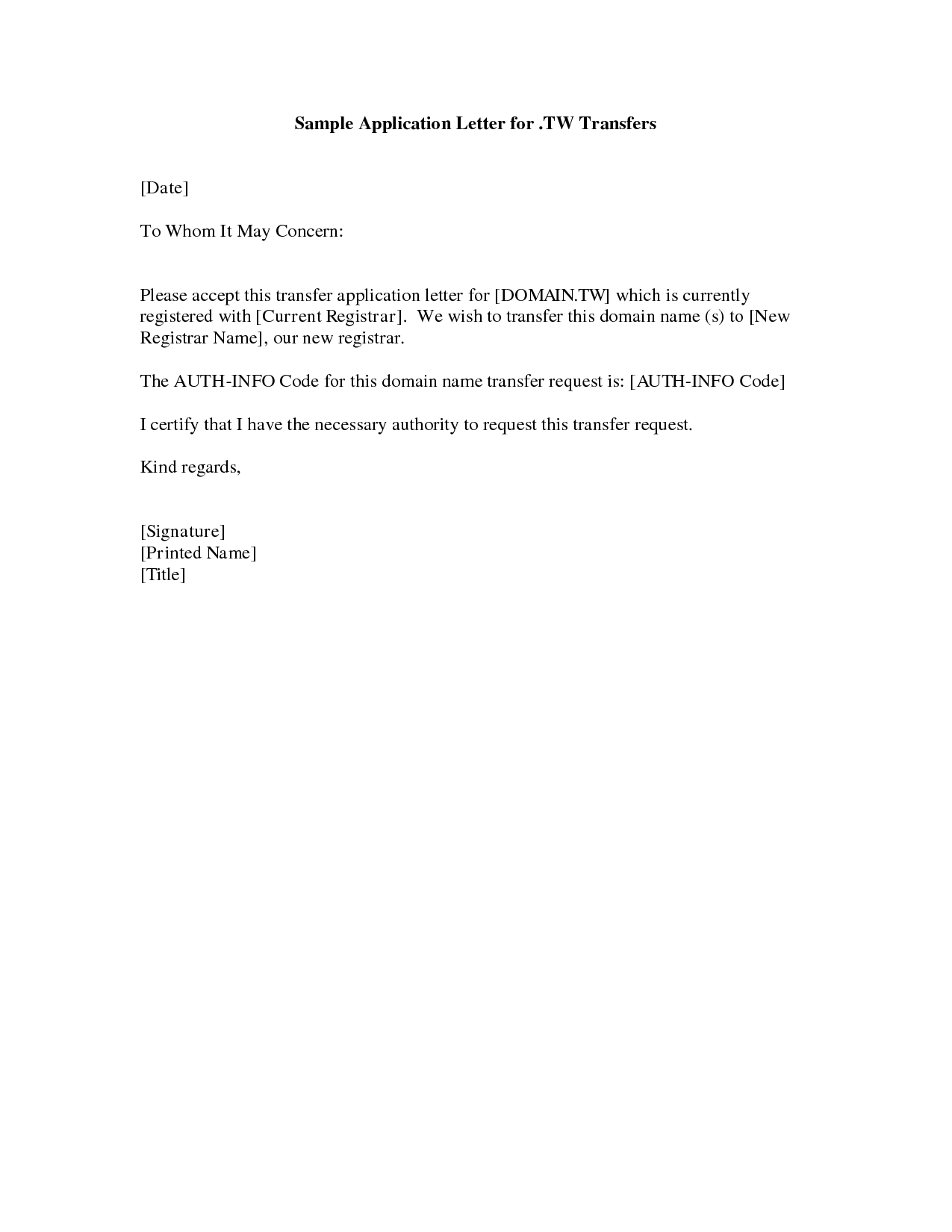 Cover Letter Example Simple Cover Letter Example For Job – Application Letter