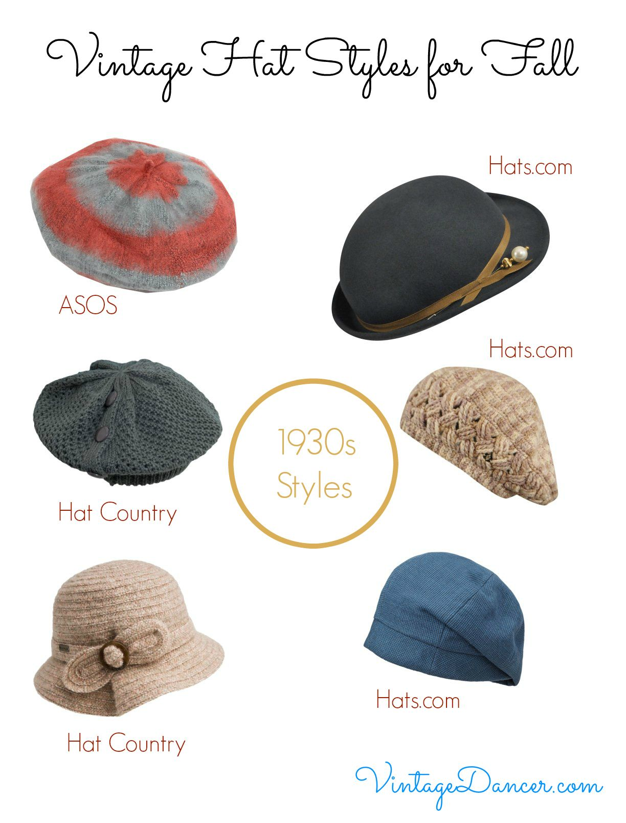 Vintage Hat Styles For Fall Winter Hats Vintage Hat Fashion Retro Hats