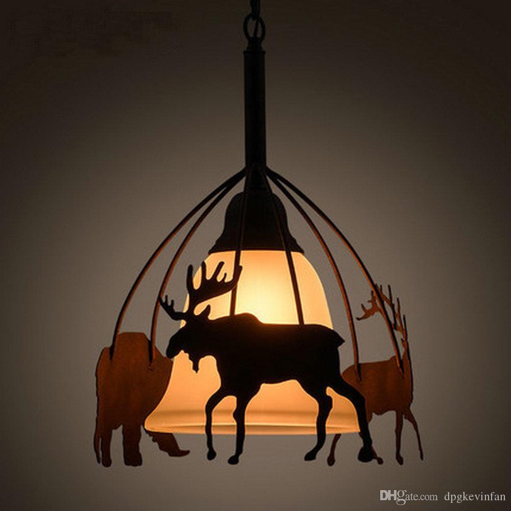 E v v hanging loft style vintage industrial lamp led