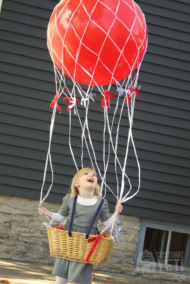 DIY Hot Air Balloon Halloween Costume Cheap halloween