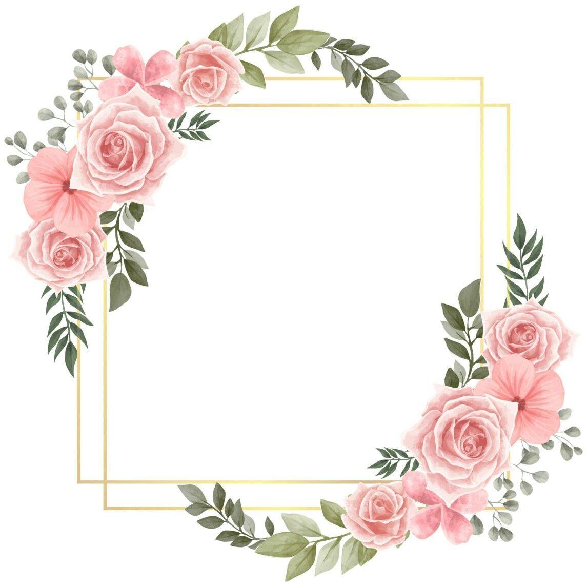 Criativo Convite Modelos De Etiqueta Quadro De Flores Agendas Ideias De Tatuagens Flower Background Wallpaper Floral Stickers Flower Frame