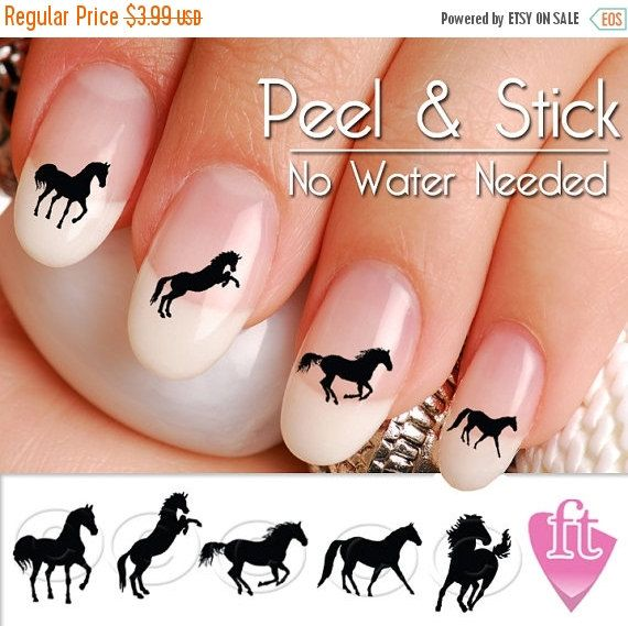 ON SALE Horse Nail Art Decals Western Horse by TheFinderthings1 ...