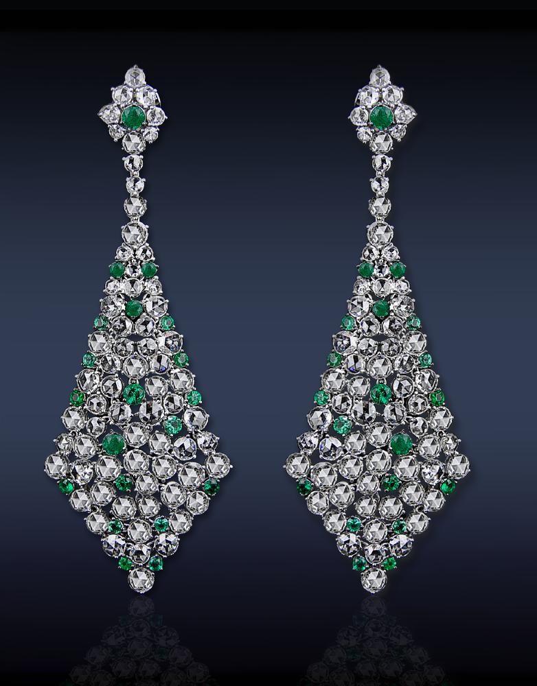 53928c5edecd Esmeralda y pendientes de diamantes