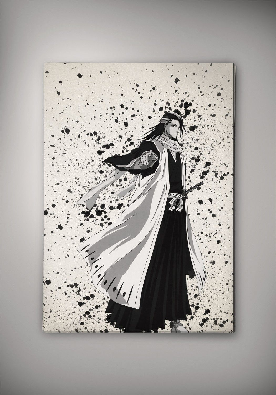 Bleach Anime Manga Watercolor Print Poster Ichigo Kurosaki
