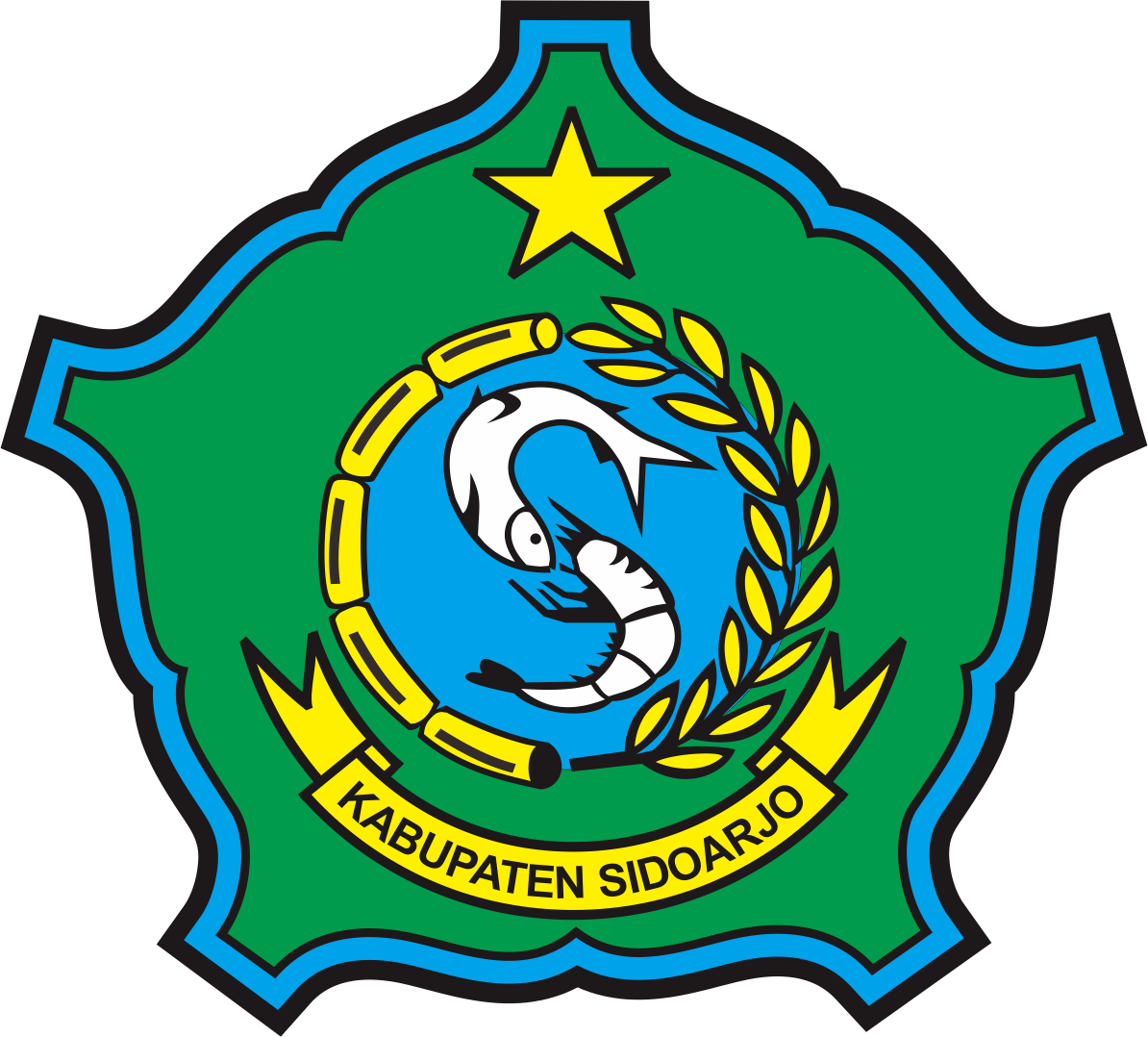 logo kabupaten sidoarjo infoSda Pendidikan, Riwayat