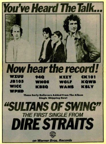 Dire Straits Sultans Of Swing 1979 Dire Straits Sultans Of Swing Straits