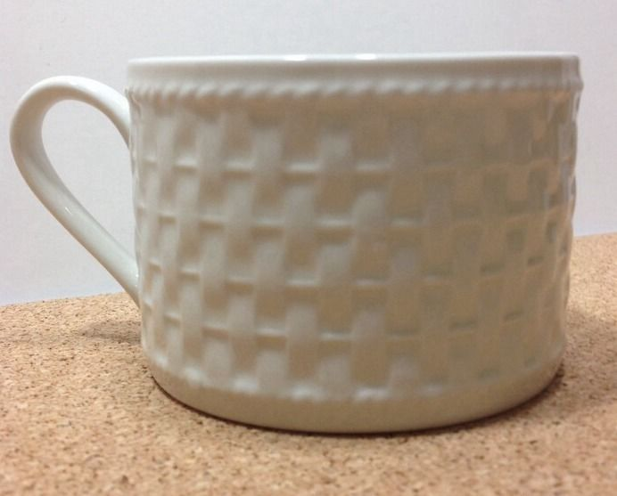 SAKURA Casual Dining by Oneida Basketweave White Stoneware Cup Mug ...