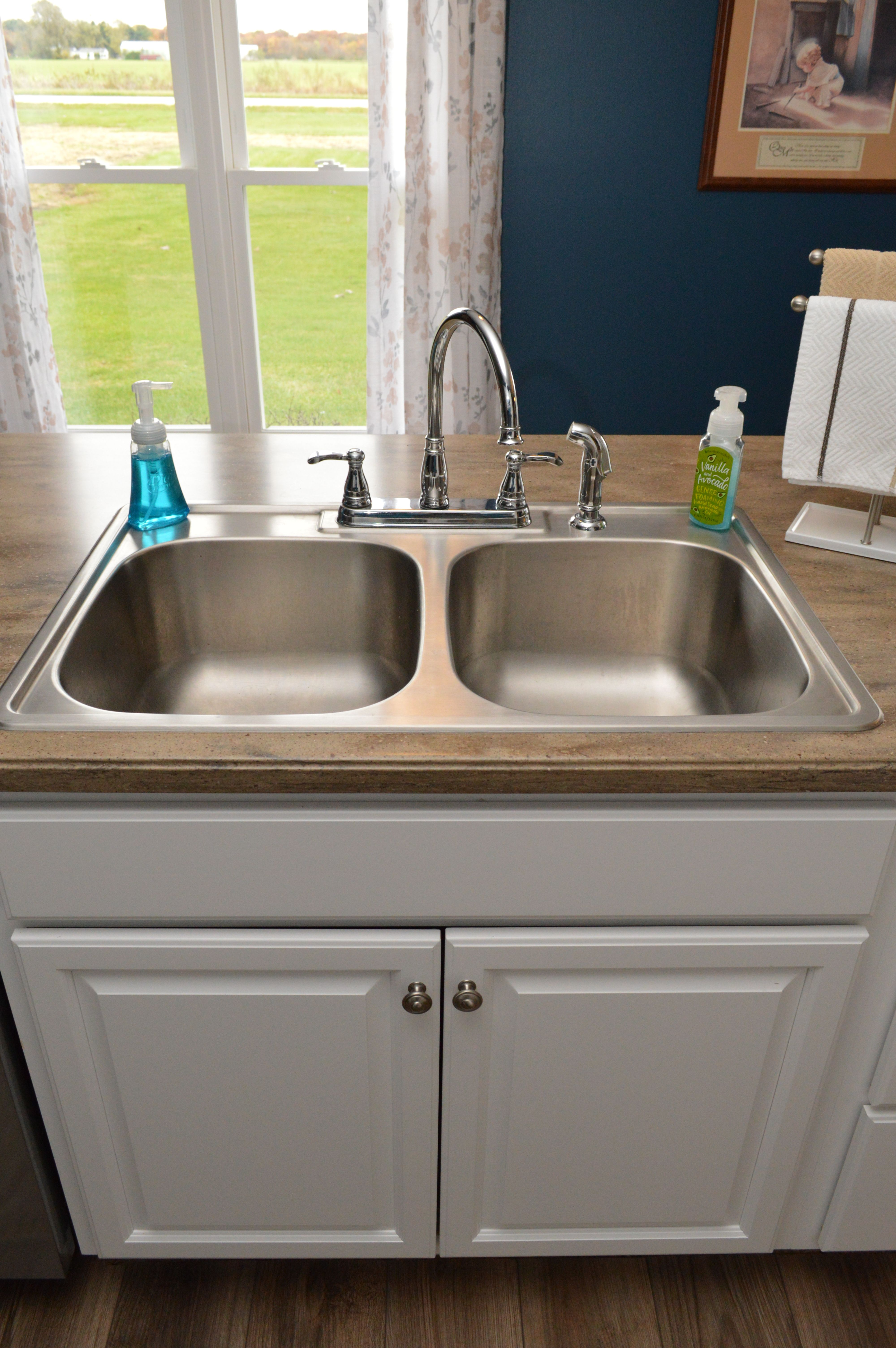 Kitchen Sink For 18 Cabinet Bailey S Cabinets Pelican Equal Bowl Stainless Steel Top Mount