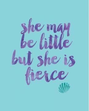 She May Be Little But She Is Fierce Mermaid Dream Big Fin Fans