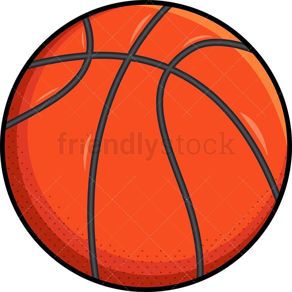 Orange Basketball Ball Cartoon Clipart Vector Friendlystock Basketball Ball Cartoon Clip Art Clip Art