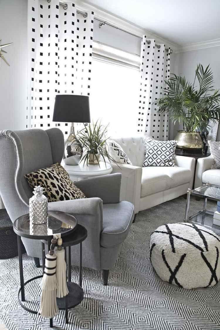 Superieur Salon Blanc Et Gris Top Idees Ambiance Scandinave Moderne Also Un Tas De  Nouvelles Inspirations Pour