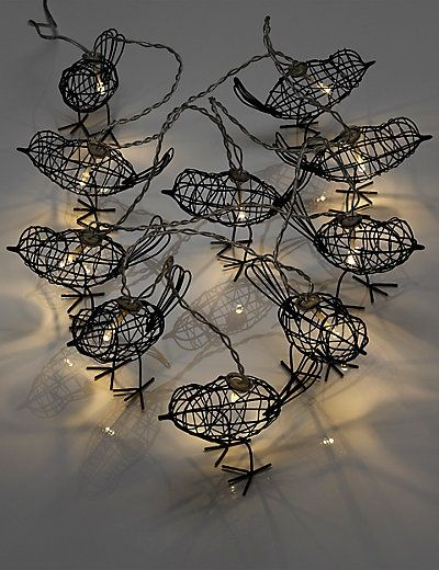 High Quality 10 LED Outdoor Wire Bird String Lights | Mu0026S Nice Design
