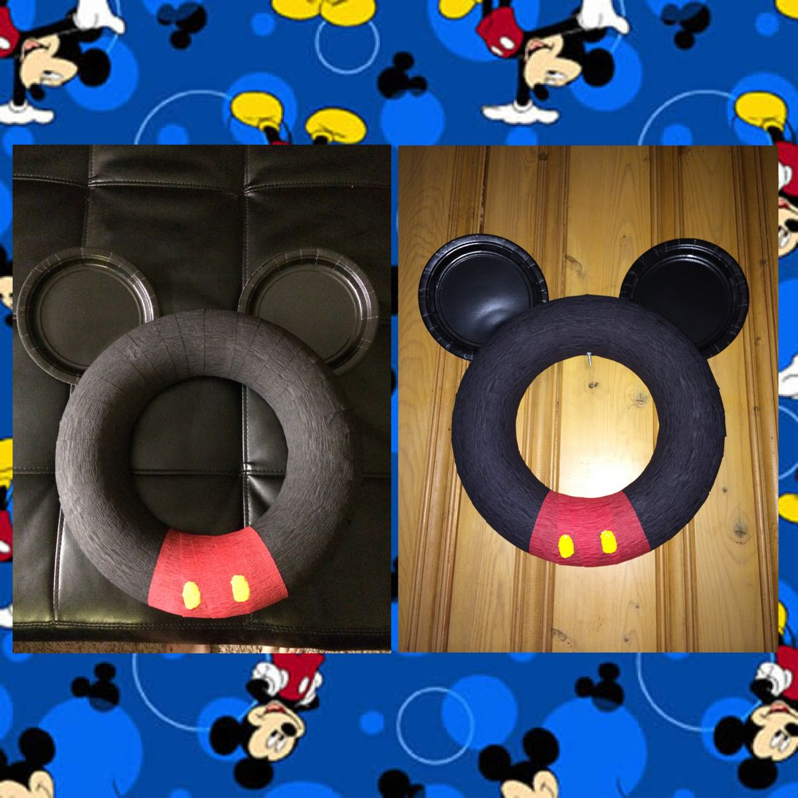 Cheap/easy wreath for Mickey Mouse party! #mickeymouse #clubhouse #birthday. & Cheap/easy wreath for Mickey Mouse party! #mickeymouse #clubhouse ...