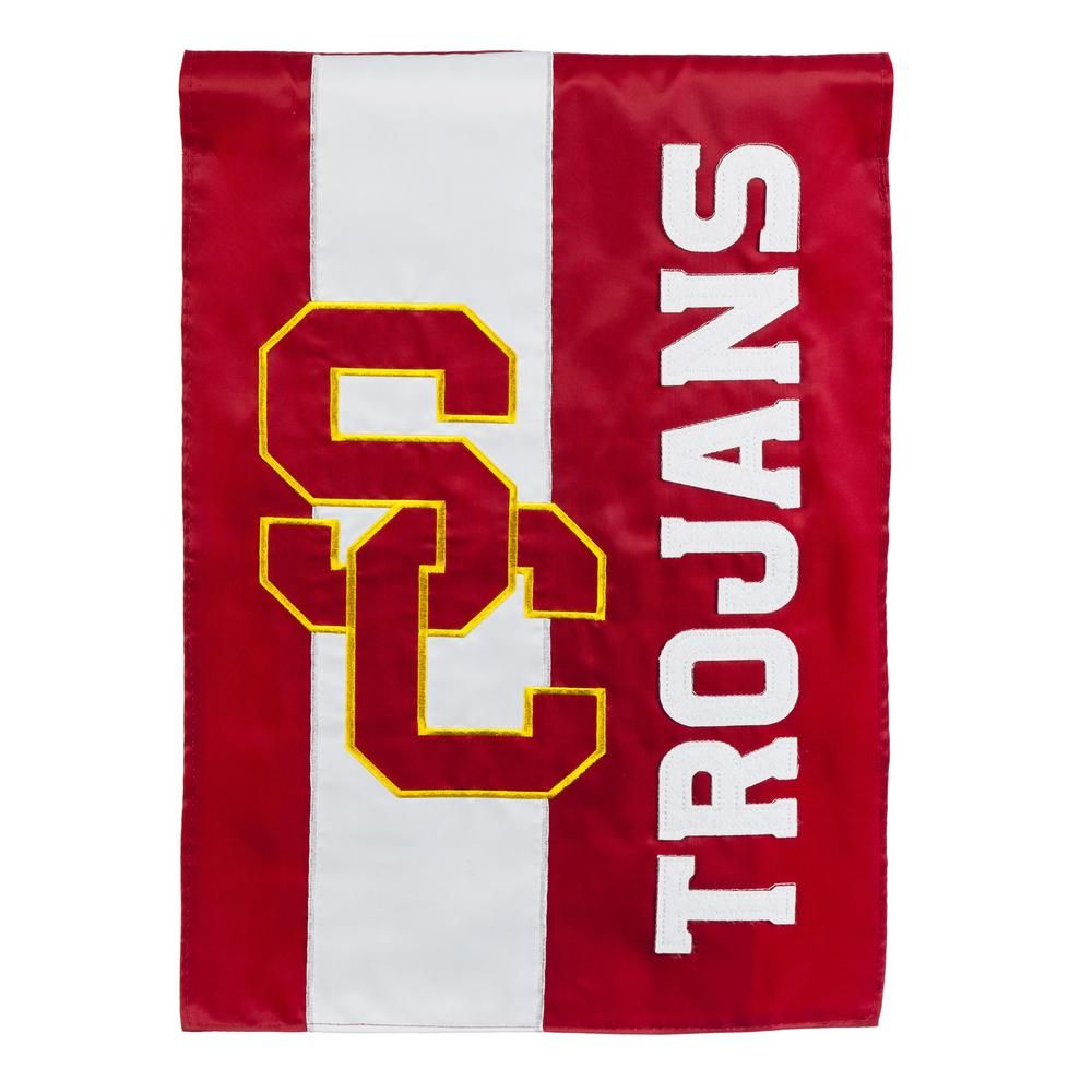Evergreen 1 Ft X 1 1 2 Ft University Of Southern California Embellished Garden Flag University Of Southern California Flag Outdoor Wall Art